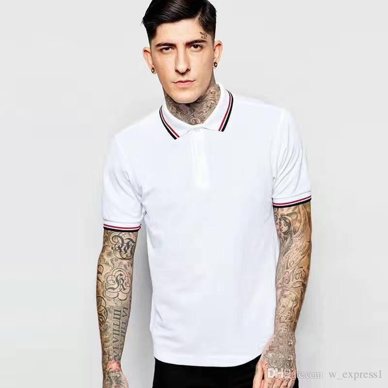 england fashion men casual polo shirt high quality perry cotton male