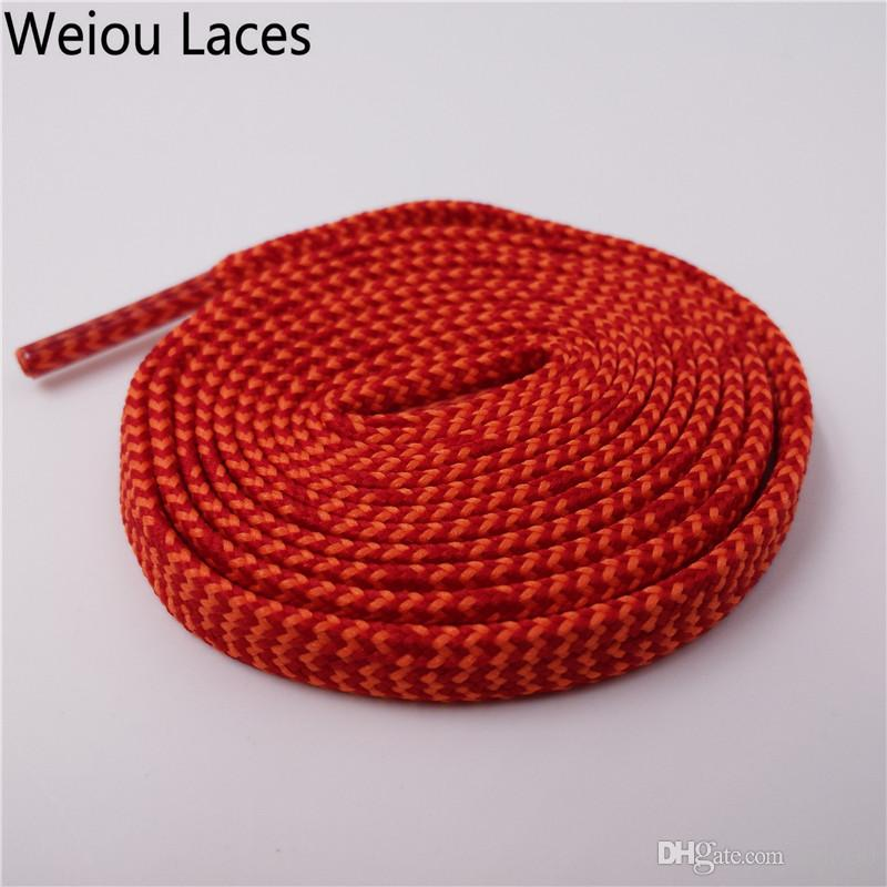 Weiou 7mm Premium Polyester Pattern Flat Shoelaces Eco-Friendly Sneaker Spider Web Pattern Shoe Laces For Running boots Uncaged