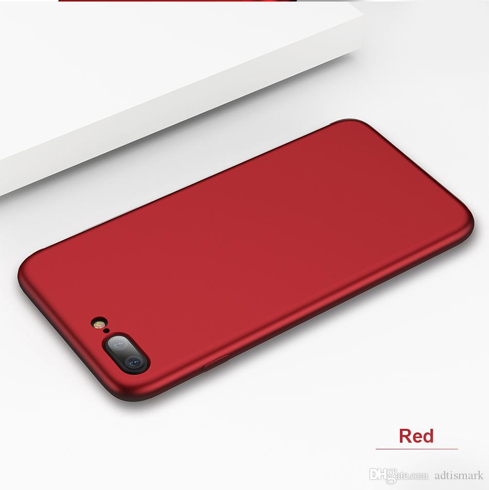 Soft TPU Silicone Case For iPhone X 6 6S 7 Plus Matte Red Oil Skin Feel Slim Protective Cover For iPhone 5 5S