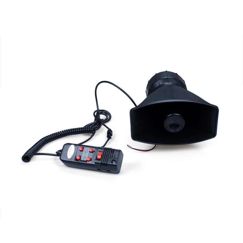 12V 5 Dźwięki OSTRZEŻENIE Car Alarm Syren Horn PA Głośnik System Wzmacniacz MIC