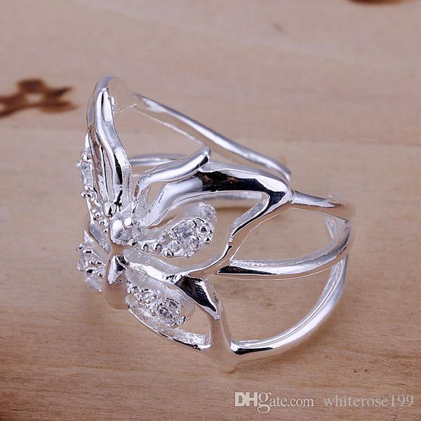 Partihandel - lägsta pris julklapp 925 sterling silver mode halsband + örhängen set qs179