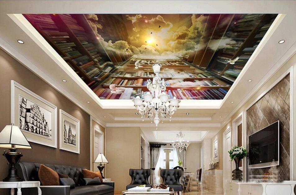 3d soffitto sfondi soggiorno personalizzato 3d soffitto carta da parati Creativo sogno booksh carta da parati-bedroomsb Nonwovens wallpaper soffitti