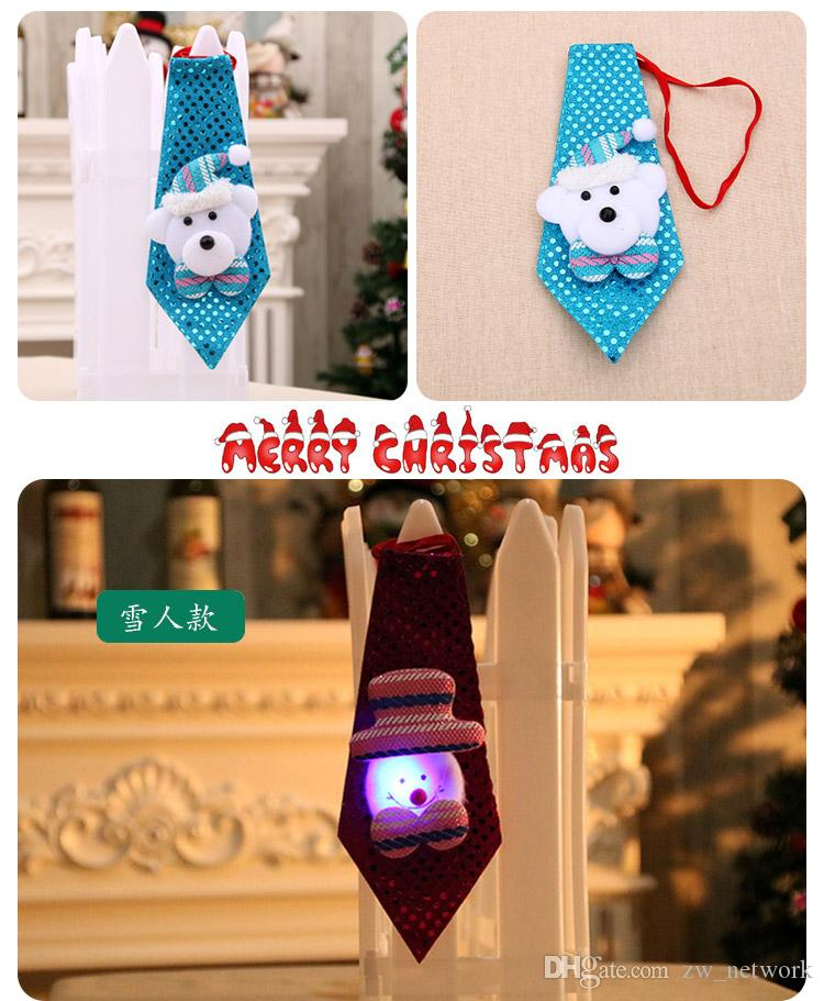 2017 New Christmas decorations Ties for kids and Adults cute Santa Claus Ties best Christmas decoration gifts