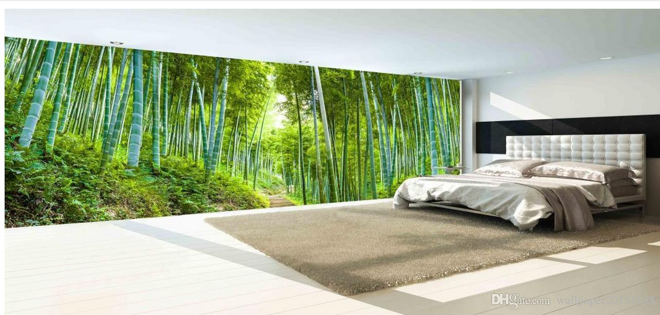 bamboo sea bamboo forest landscape huge background wall mural 3d bamboo sea bamboo forest landscape huge background wall mural 3d wallpaper 3d wall papers for tv backdrop green wallpaper h wallpaper from wallpaper20151688