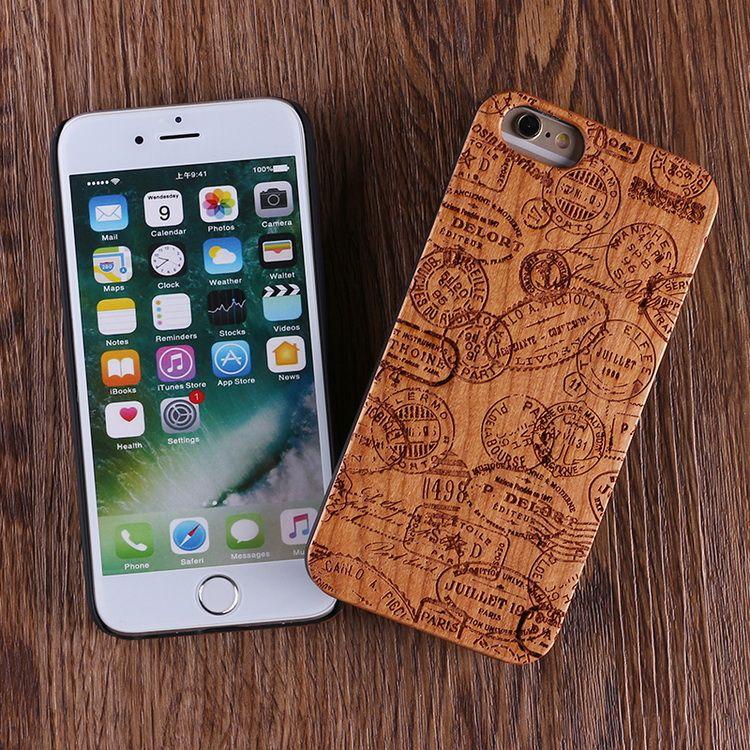 Véritable Bambou Stéréo Motif Cas En Bois Pour iPhone 7 6 Plus 8 8 Plus Cas Coque Téléphone Accessoires Pour Apple iPhone Couverture