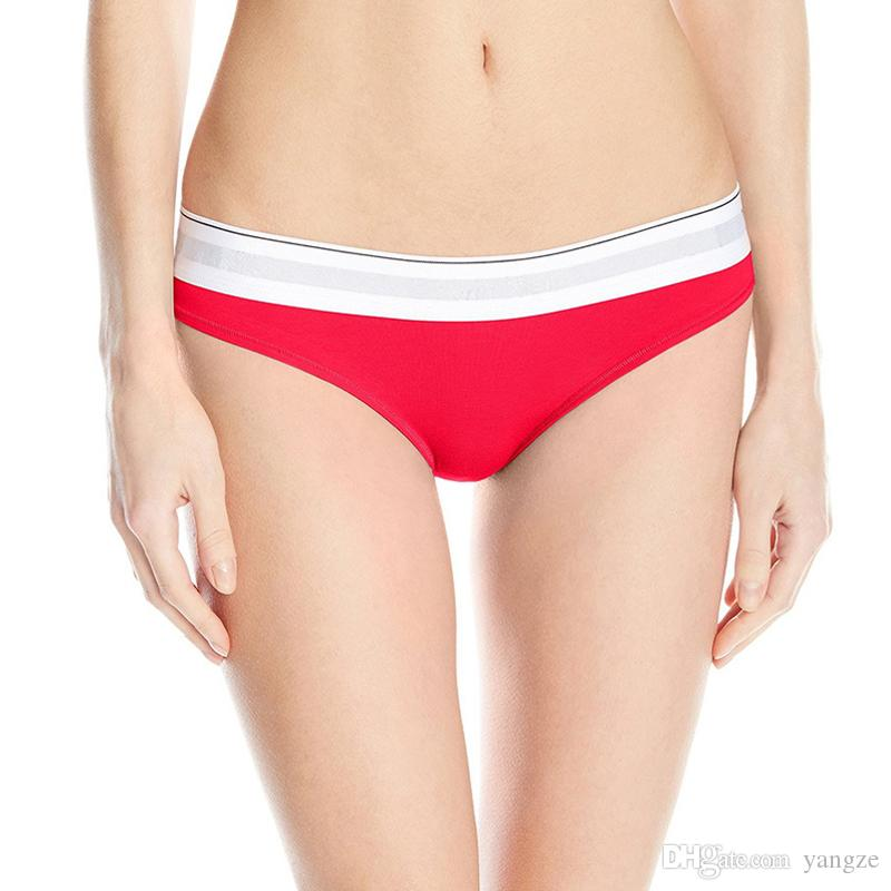 Women's Cotton Panties Girl Briefs Low Waist Sexy Thong Women Underwear G String Size S M L Run Small