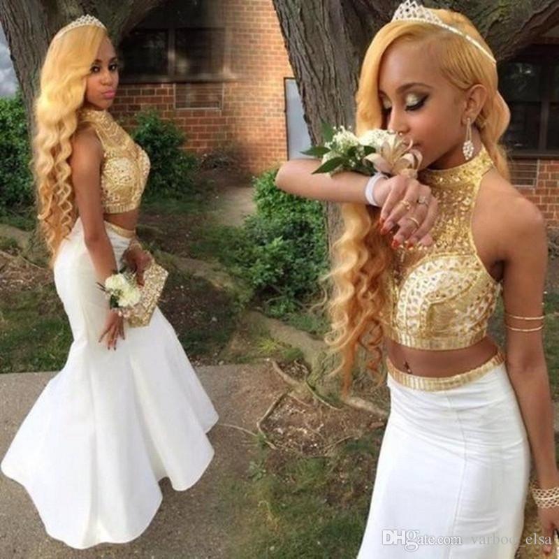 b998e7c769813 Satın Al Varboo_elsa Afrika Balo Elbise Yüksek Boyun Beyaz Ve Altın  Gelinlik Modelleri 2017 Kat Uzunluk Kristal Boncuklu Gömme Mermaid İki Adet Balo  Elbise, ...