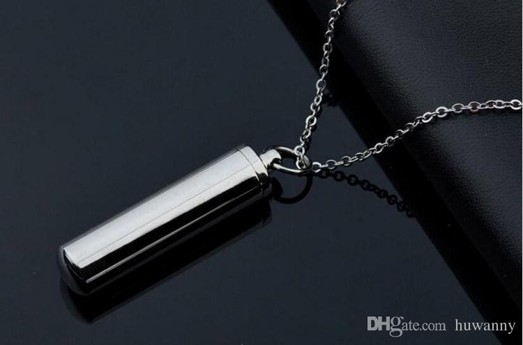 Paslanmaz Çelik Parfüm Şişesi Kolye Kolye Titanyum Çelik Link Zinciri Kolye Kadın Erkek Takı toptan Ücretsiz Kargo - 0463WH