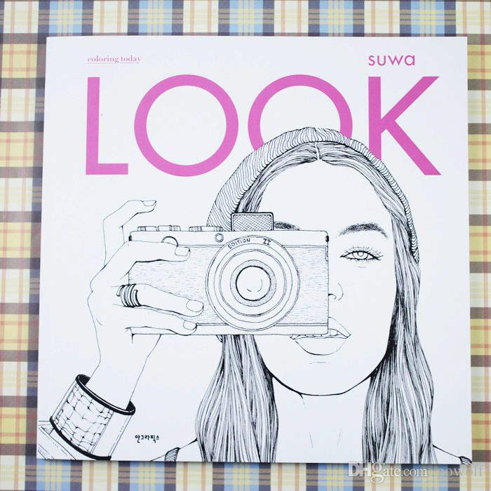 2017 2017 fashion look wholesale coloring books for adult kids children girls antistress art drawing painting secret garden colouring book from gowolf - Wholesale Coloring Books