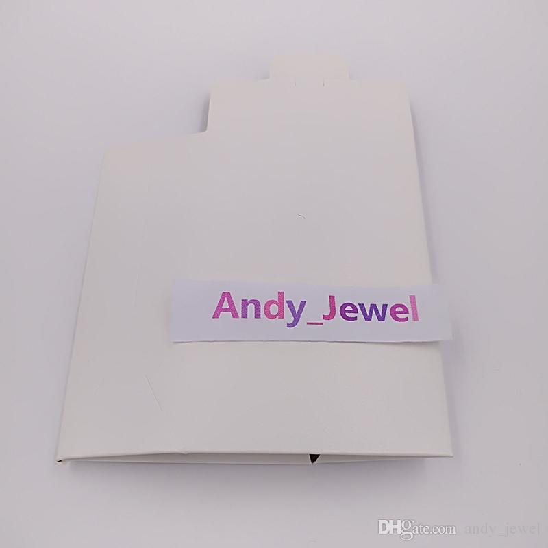 Commercio all'ingrosso Scatole di carta bianca di alta qualità Scatole di carta bianca 9 * 6 * 3 cm i monili in stile Pandora Charms perline anelli Borse da imballaggio