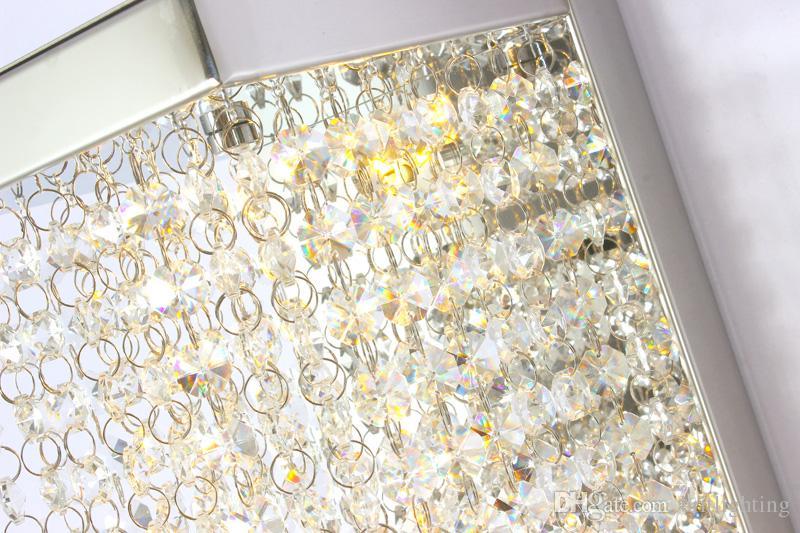 Lüks kristal aplik koridor LED kapalı duvar ışık lambaları deco banyo ayna ev aydınlatma için ışık kristal duvar lambaları