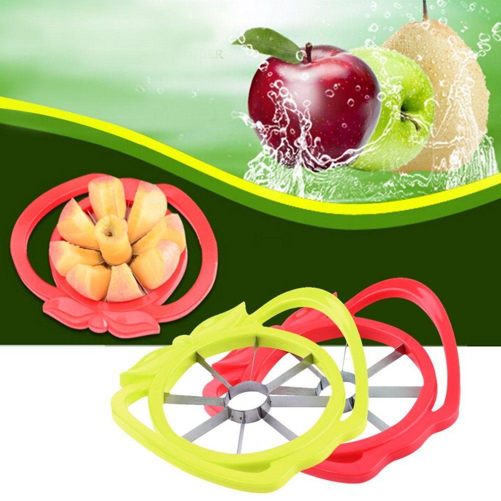 Apple Slicer Cortador Corer Divider Plástico Aço Inoxidável Cozinha Fruit Tool