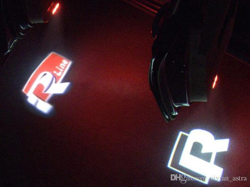 2x سيارة الصمام شعار الباب ترحيب مصباح السيارات ليزر شعار العارض ضوء ل volkswagen vw golf 4 beetle توران العلبة بورا mk4 r خط