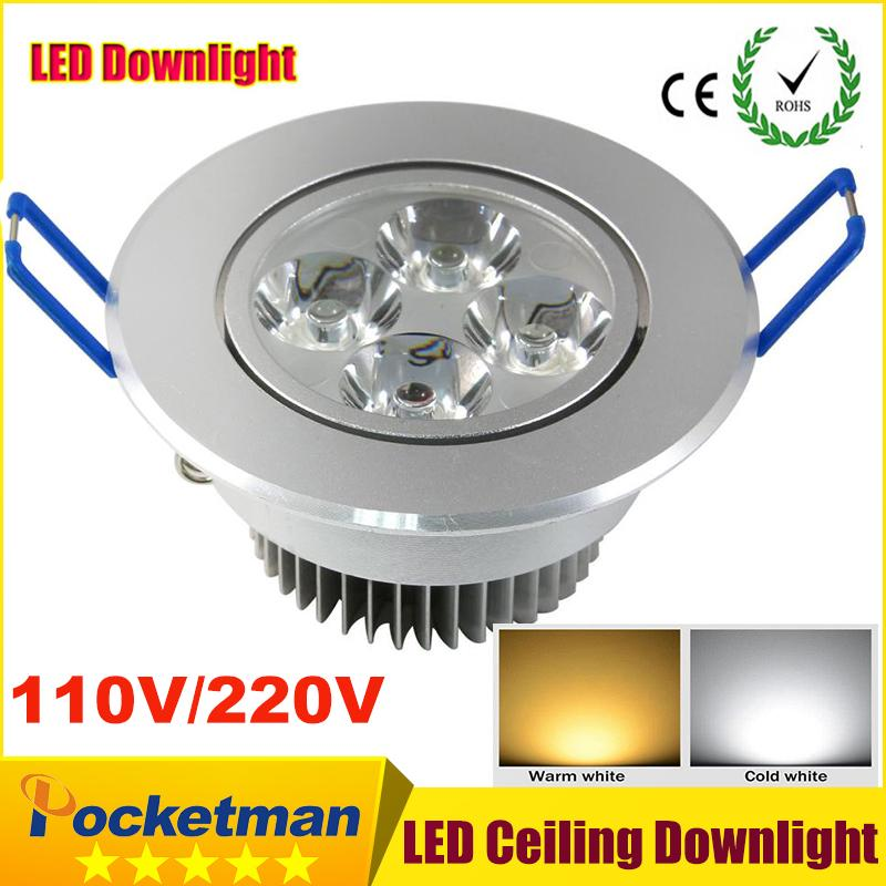 detailed look fee96 8ea04 Wholesale- CREE 9w Led Downlights led down light Spot light 85-265v Epistar  Recessed Cabinet Wall Spot ceiling Lamp For Home Lighting zk63