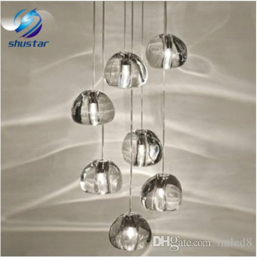 Modern clear crystal glass sphere ball chandelier mizu 3 5 7 15 26 modern clear crystal glass sphere ball chandelier mizu 3 5 7 15 26 head pendant lamp ceiling lamp round stainless steel base chandelier shades small mozeypictures Choice Image