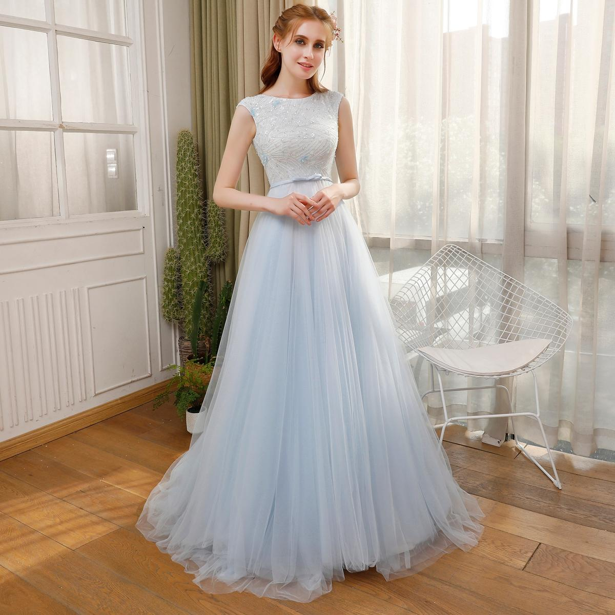 Ssyfashion New High End Evening Prom Dress The Bride Luxury Crystal