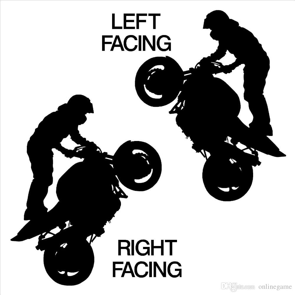 Extreme sports motorcycle rider standing vinyl stickers Art Mural wall decals decorate the living room wallpaper 45*57 // 57*72 cm
