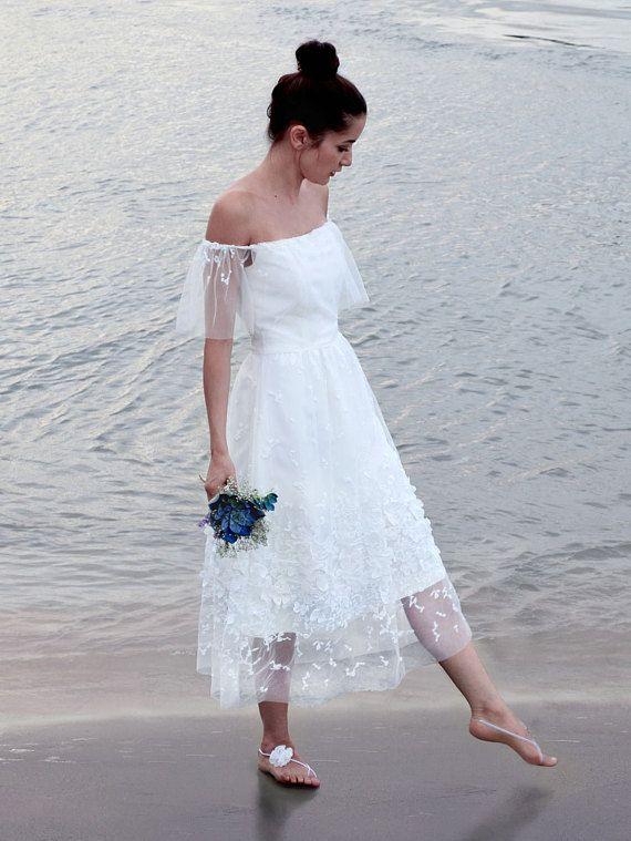 Discount Bohemia Summer Beach Short Wedding Dresses 2018 Tea Length ...