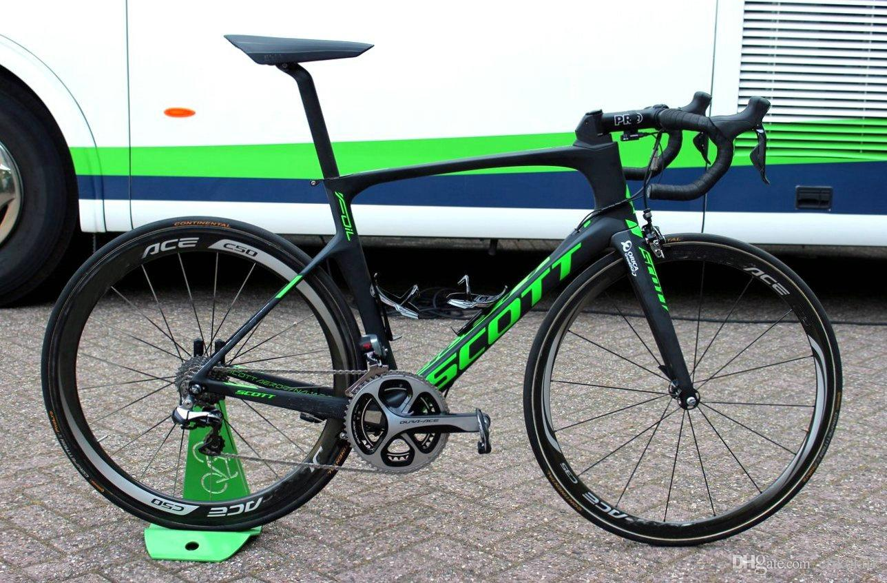 2019 Foil Green complete Road full Bike Full Carbon Road Bike Bicycle With Groupset For Sale