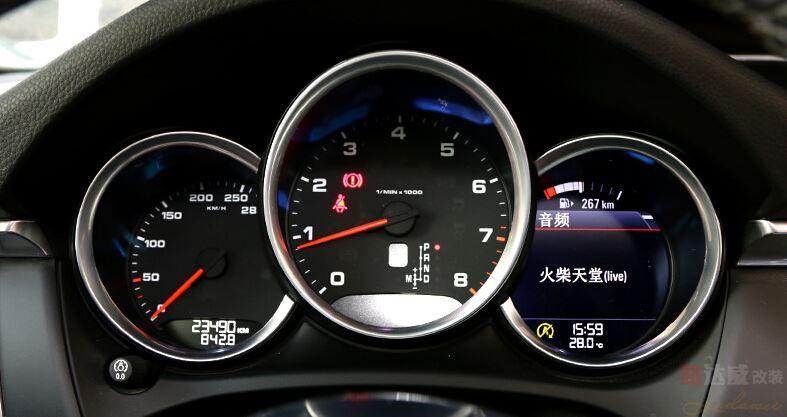 car dashboard decoration cover trim for porsche macan (3)
