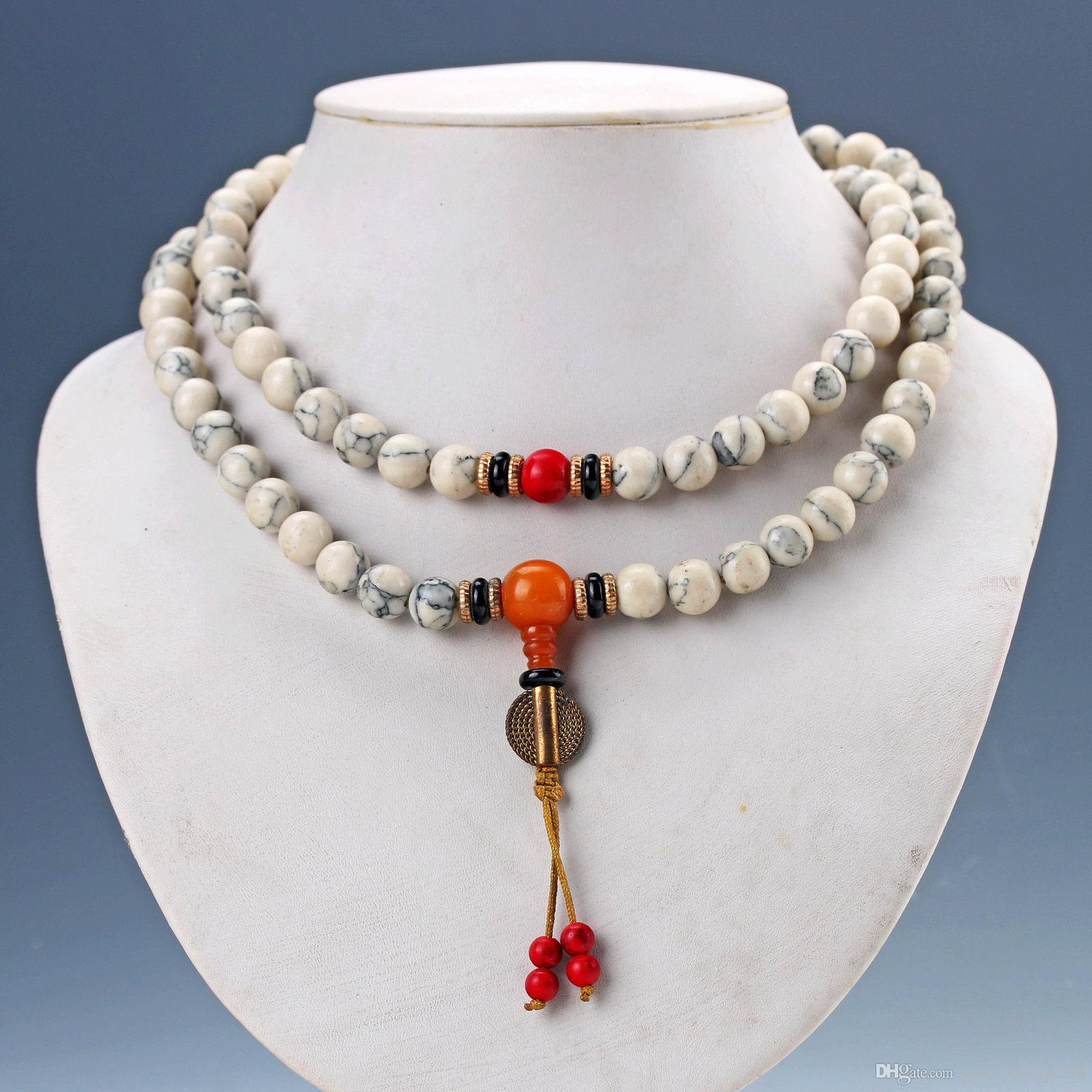 Chinese Exquisite Porcelain Beads Handwork Necklaces & Pendant D1133