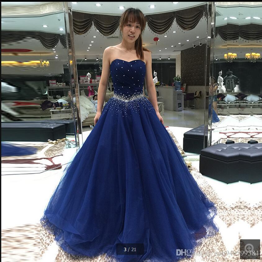 Blue Princess Prom Dresses