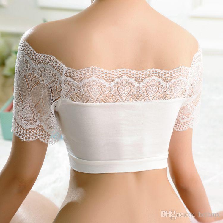 Verão Bra ultra confortável estiramento Poliamida Jersey Lace macia Bralette Top Curto Branco Preto Retail Wholesale