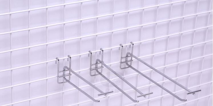 10cm de longueur fil de treillis de filets crochet présentoir de merchandising étagères accessoires