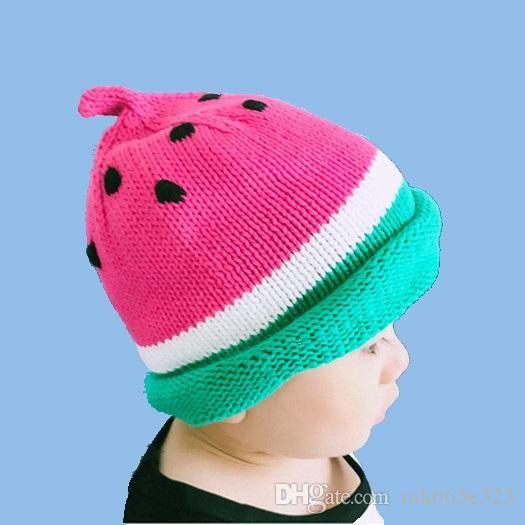 90668b58ff5 ... usa best baby girls boys hats watermelon knitted baby hat newborn  photography props cute kids hats