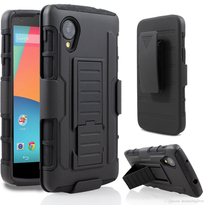 best website 54d9c 21c68 Tough Hybrid Armor for Google LG Nexus 5 case For Google Pixel XL Cover 3  in 1 3D Kickstand Belt Clip Military Bag