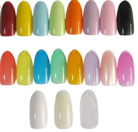 Oval Natural Colors False Acrylic Nail Tips Uv Gel Half Nail Tips