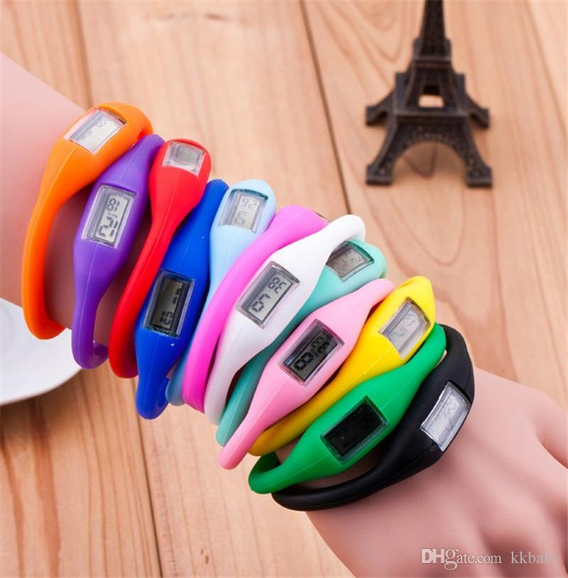 New Women Men Anion Health Watches Girl Boy Sport Negative Ion Silicone LED Bracelet Sport Digital LED Watches Wristwatches