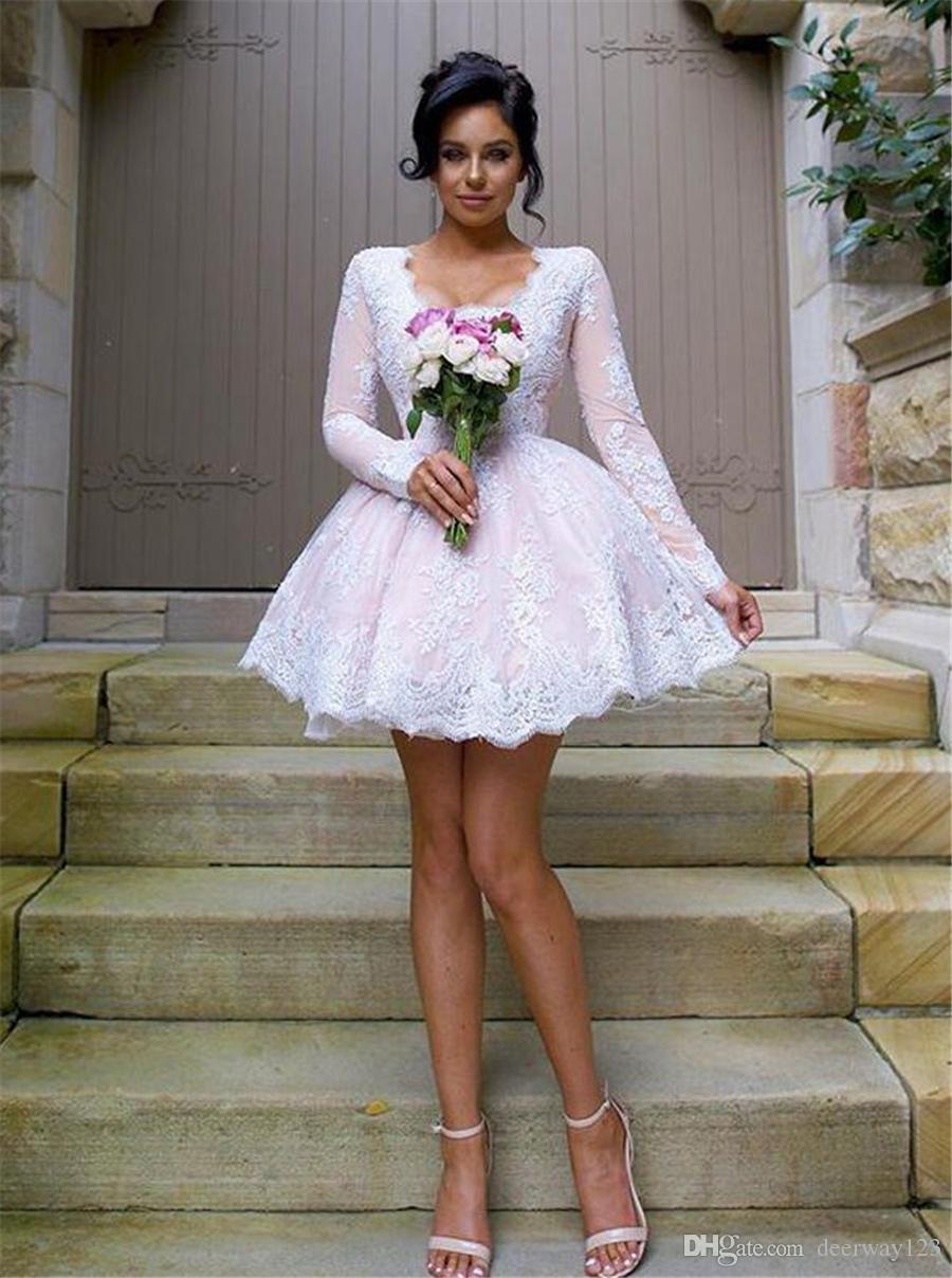 O-образным вырезом с короткими рукавами розовый и белый лодыжки длина платья невесты ABC стиль индивидуальные сделал платья партии