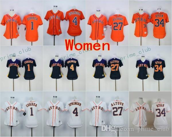 2017 2017 womens houston astros baseball jersey cool base 1 carlos correa 27 jose altuve 4
