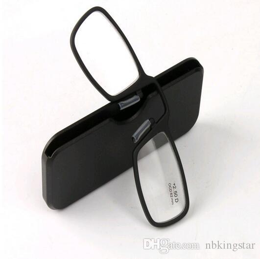 2016 Novo Nariz Preta Clipe Magnético TR90 Óculos de Leitura Das Mulheres Dos Homens DiopterGlasses Masculino Presbiopia Óculos