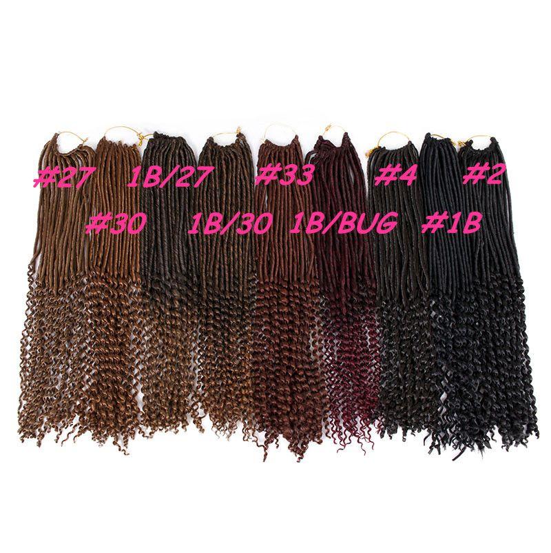 2017 NOUVEAU GODDESS CROCHET BRAIDS 18inch déesse locs cheveux demi-droite demi-onde synthétiques extensions de cheveux synthétiques faux locs synthétique tressage de cheveux