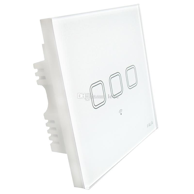 Smart Home 3 Gang Touch Screen Glass Panel Wifi Light Wall Switch ...