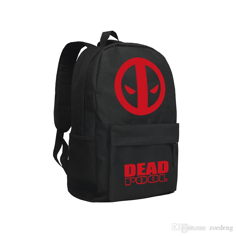 Men Backpacks Anime Movie Marvel Heroes Backpack Agent of Shield Batman Dead Pool Superman Shoulder Bag for Boys and Girls Student Schoolbag