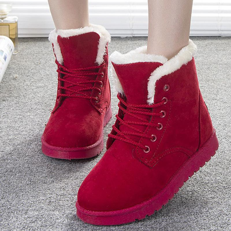 90e1f24352 Wholesale Women Boots Fashion Shoes Women Winter Boots Warm Fur Ankle Boots  For Women Winter Shoes Black Red Waterproof Boots Western Boots From  Vickay