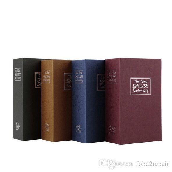 180x115x55mmセーフボックスシミュレーション辞書スタイルセキュリティの秘密の本のケース現金マネージュエリー収納ボックスセキュリティキーロック