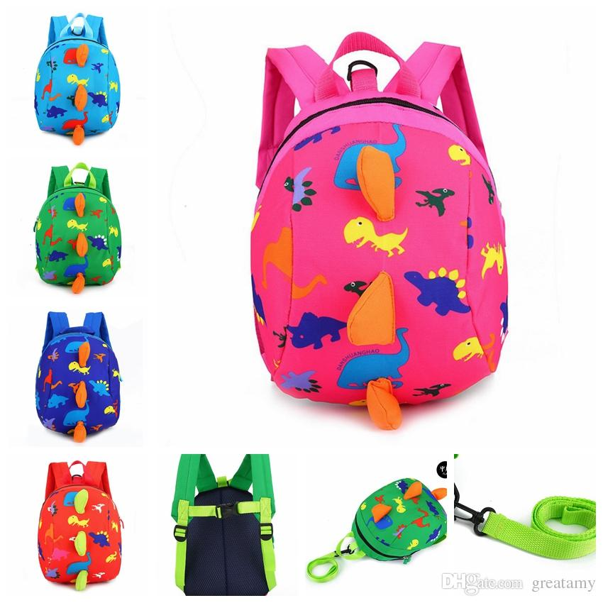 e39cd8184ee6 Anti Lost Kids Backpack Cartoon Arlo Kindergarten Girls Boys Children  Backpack School Bags Animals Dinosaurs Snacks Ladies Backpacks Travel  Backpacks With ...