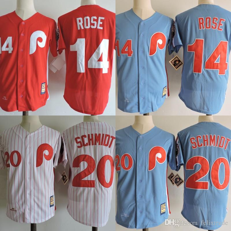 a24b6cc80 ... stitched mlb  2017 philadelphia phillies mens throwback baseball jerseys  14 pete rose 20 mike schmidt red blue che