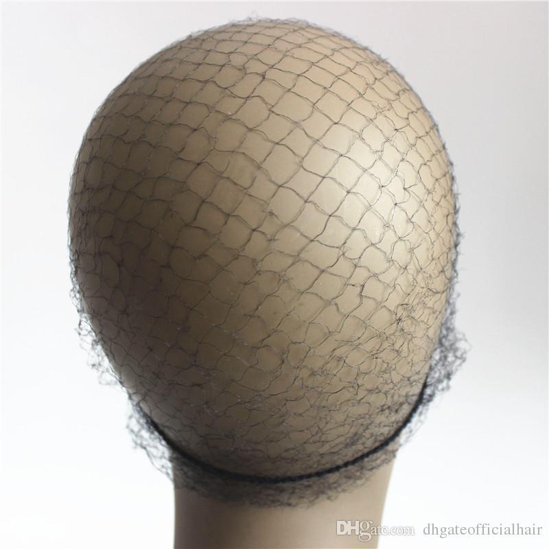 20 teile / los Schwarz Farbe Nylon Haarnetze 20 inch Unsichtbare Einweg Haarnetz für PerückenWeben Mit dem Fabrik Preis