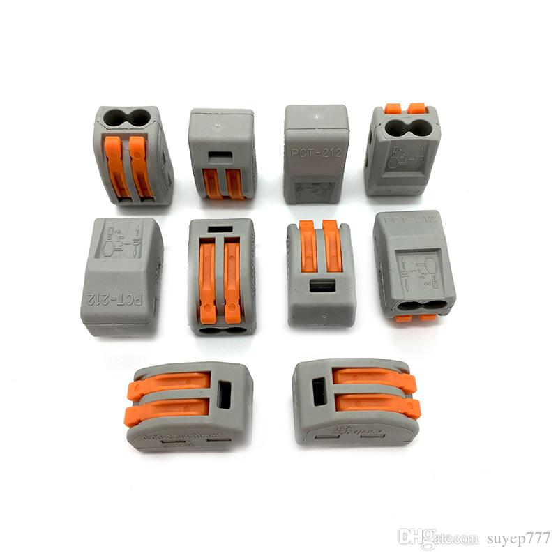28-12 AWG Push Wire Connector Lever Terminal Block PCT-212 222-412 2 Pin Universal Connectors Terminals 400V 28-12AWG 32A