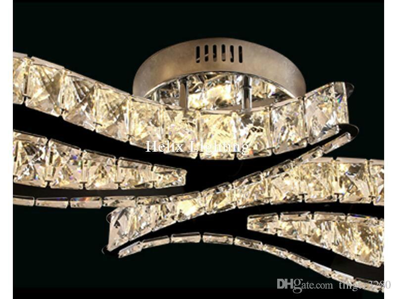2017 neu L620mm LED Kristall Deckenleuchte Für Wohnzimmer luminaria LED Deckenleuchte Leuchte Für Schlafzimmer AC 100% Garantiert