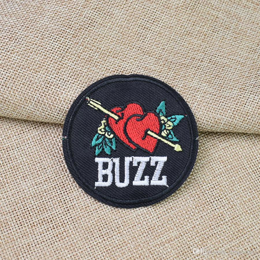 BUZZ patches for clothing iron fashion embroidery patch for cloth applique sewing accessories stickers badge on clothes iron on patch