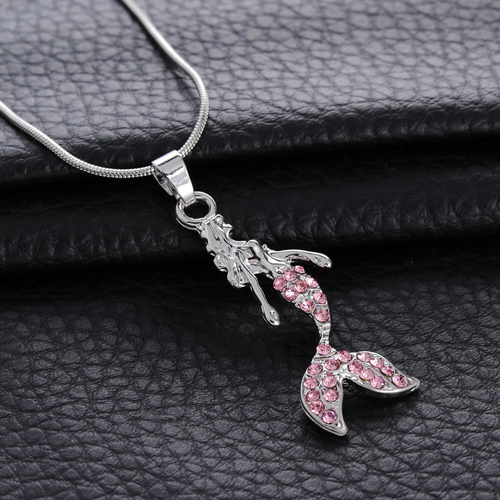 Wholesale top grade diamond pendant necklace little mermaid pendant wholesale top grade diamond pendant necklace little mermaid pendant necklace for wedding party women jewelry pendants and necklaces gold chains for men from aloadofball Choice Image