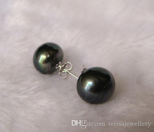 2016 Charming Perle Ohrringe Natürliche Frischwasserperlen Ohrringe 925 Silber Schmuck Mode Dame Hochzeit Geburtstag Schmuck Großhandel