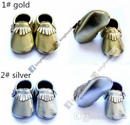 Kinghoo bebê piscar moccs sapatos de couro do bebê mocassins de couro metálico crianças sapatos para crianças meninas sapatos meninos infantis botties criança 6 cores