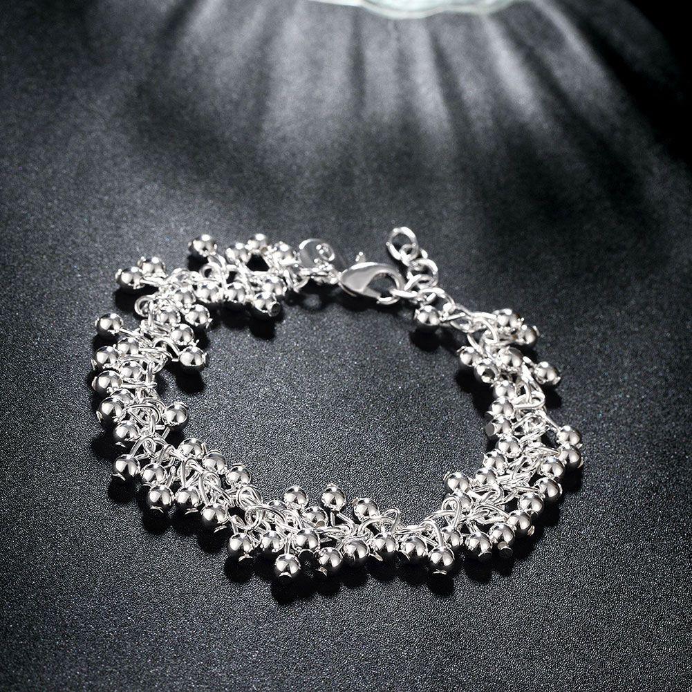 ZOEBER silver color bracelet Small ball shape grape particles popular Sky stars geometric figure wedding banquet boutique female